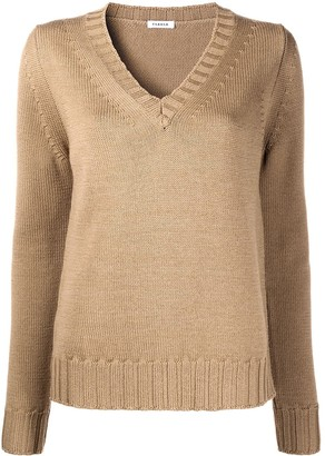 P.A.R.O.S.H. Purl-Knit V-Neck Jumper