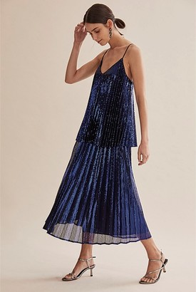 Country Road Pleat Sequin Cami