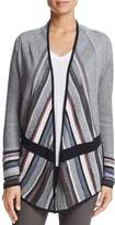Nic+Zoe Mirror Image Striped Cardigan