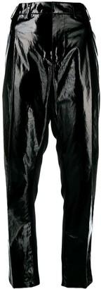 No.21 Vinyl Front Trousers