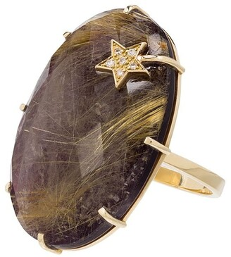 Andrea Fohrman 14kt Yellow Gold Amethyst Ring