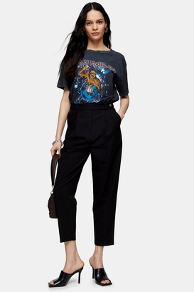 Topshop Womens Black Tapered Suit Trousers - Black