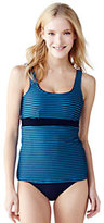 Lands' End Women's Coastal Spirit Scoopneck Tankini Top-Celestial Blue