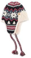 Muk Luks Women's Snowflake Nordic Trapper Hat - Black