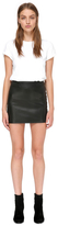 Alva Leather Fitted Skirt