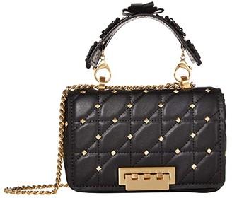 ZAC Zac Posen Earthette Small Soft Chain Shoulder - Solid Studded (Black) Handbags