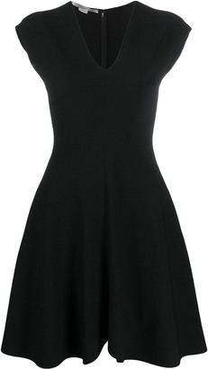 Stella McCartney deep V-neck skater dress