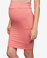 Ripe Maternity Striped Pencil Skirt