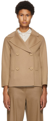 S Max Mara Beige Wool Connie Jacket