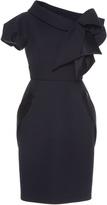 Dice Kayek Folded Asymmetric Collar Dress