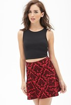 Forever 21 Damask Fluted Skirt