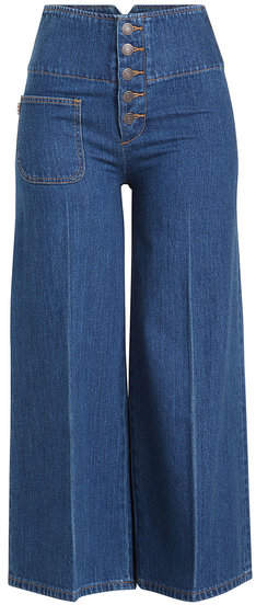 Marc Jacobs Cropped Wide Leg Jeans
