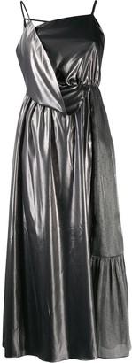 Three floor Bouvier metallic dress