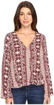 Brigitte Bailey Tamsyn Printed Overlap Long Sleeve Top Women's Clothing
