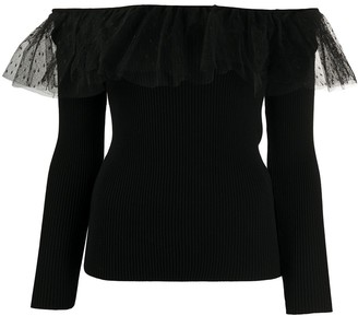 RED Valentino Off-The-Shoulder Knitted Top