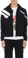 Neil Barrett Men's Ponte Knit Zip-Front Hoodie