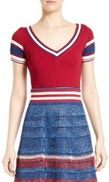 RED Valentino Women's Stripe Knit Top
