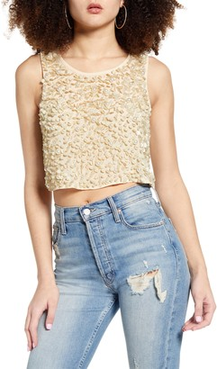 Endless Rose Flower Spangled Tank Top