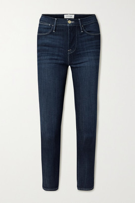 Frame Le High Cropped Skinny Jeans - Blue