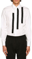 DSQUARED2 Contrast Ruched-Trim Woven Shirt, White