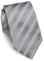 Isaia Tonal Stripe Silk & Linen Tie