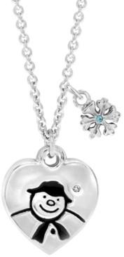 Rhona Sutton Snowman Heart Pendant Necklace