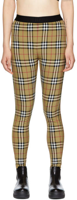 Burberry Yellow Check Belvoir Leggings