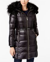 Andrew Marc Fox and Rabbit-Fur-Trim Down Puffer Coat