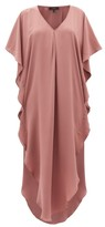 Thea - The Alexus Ruffled Silk Dress - Womens - Light Pink