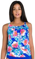 Women's Upstream Floral Blouson Tankini Top