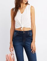 Charlotte Russe Knotted Crop Top