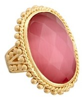 Rivka Friedman 18k Clad Crystal Ring.