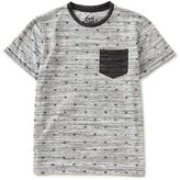 First Wave Big Boys 8-20 Printed Patch-Pocket Tee