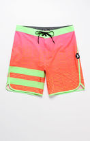 "Hurley Phantom Block Party Hyperweave Speed 19"" Boardshorts"