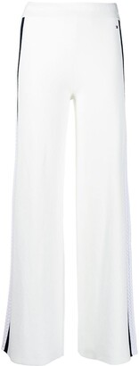 Tommy Hilfiger Stripe Detailed Palazzo Trousers