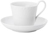 Royal Copenhagen Half Lace High Handle Cup & Saucer Set (2 PC)