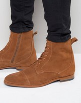 Zign Suede Lace Up Boots
