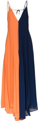 Roland Mouret Tusi two-tone pleated gown
