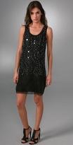 Vera Wang U Neck Sleeveless Picot Slip Dress