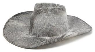Reinhard Plank Hats - Nana P Wide-brimmed Straw Hat - Black White