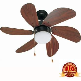 Faro Palao – 33185 Ceiling Fan with 6 Light Wood MDF Blades, 760 mm, Chain Track