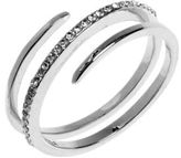 Judith Jack Crystal and Sterling Silver Wrap Ring