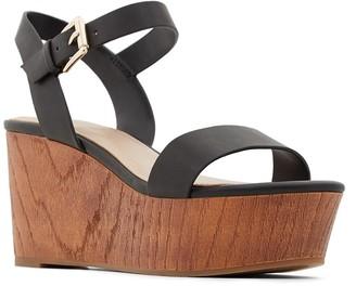 Aldo Lovaresa Ankle Strap Wedge Platform Sandal