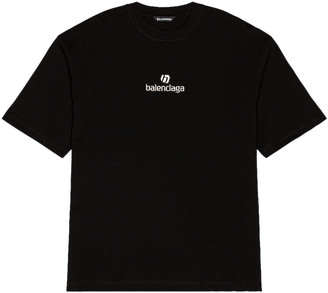 Balenciaga Medium Fit Tee in Black | FWRD