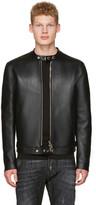DSQUARED2 Black Bonded Leather Biker Jacket