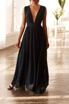 Bishop + Young Plunging Neckline Maxi Dress