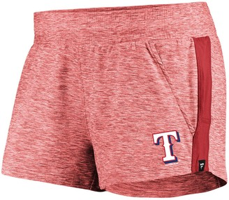 Möve Women's Fanatics Branded Heathered Red/Red Texas Rangers Made To Running Shorts
