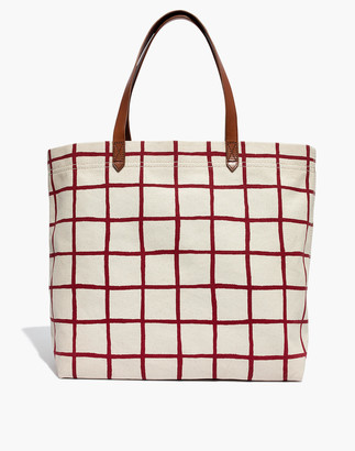 Madewell The Canvas Transport Tote in Windowpane