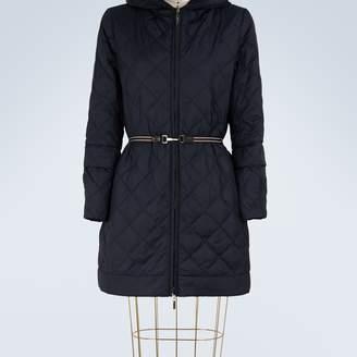 Max Mara Long padded jacket with hood