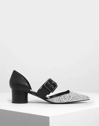 Charles & KeithCharles & Keith Glitter Mary Janes Buckle Pumps